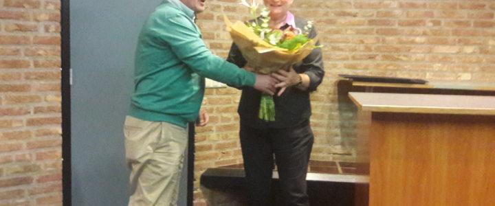 Rika neemt afscheid van de Schaakclub
