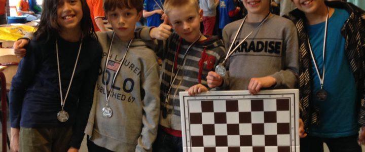 Team Tweemaster op het regionale Schoolschaaktoernooi